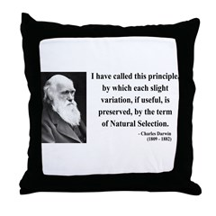 Charles Darwin 9 Throw Pillow