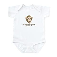 My monkey made me do it Infant Bodysuit
