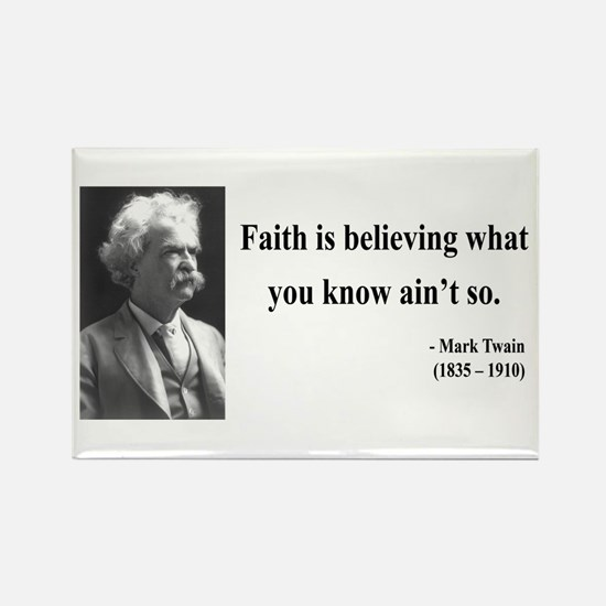 Mark Twain 19 Rectangle Magnet