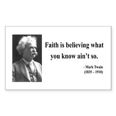 Mark Twain 19 Rectangle Decal