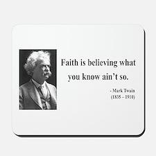 Mark Twain 19 Mousepad
