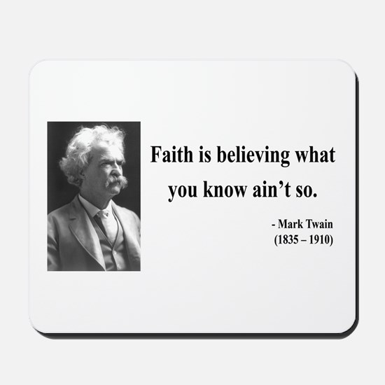 Mark Twain 19 Mousepad
