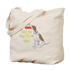 red tick hound begging Tote Bag