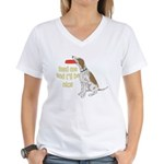 red tick hound begging Women's V-Neck T-Shirt