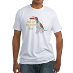 red tick hound begging Fitted T-Shirt