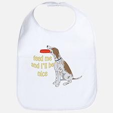 red tick hound begging Bib
