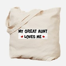 Great Aunt loves me Tote Bag