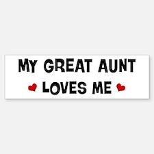 Great Aunt loves me Bumper Bumper Bumper Sticker