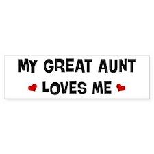 Great Aunt loves me Bumper Bumper Sticker