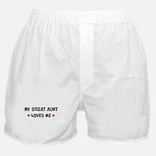 Great Aunt loves me Boxer Shorts