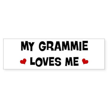 Grammie loves me Bumper Sticker