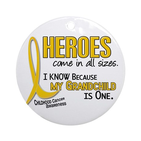 Heroes All Sizes 1 (Grandchild) Ornament (Round)