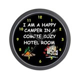 Happy camper clock Office