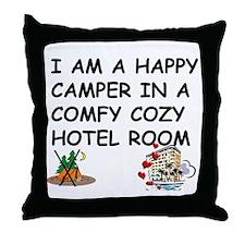 I AM A HAPPY CAMPER Throw Pillow