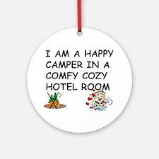 I AM A HAPPY CAMPER Ornament (Round)