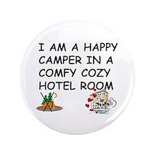 """I AM A HAPPY CAMPER 3.5"""" Button (100 pack)"""