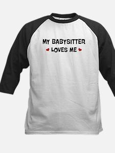 Babysitter loves me Kids Baseball Jersey