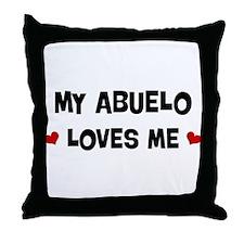 Abuelo loves me Throw Pillow
