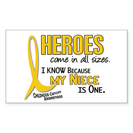 Heroes All Sizes 1 (Niece) Rectangle Sticker