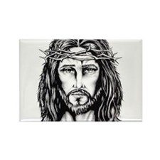 Jesus Crown of Thorns Rectangle Magnet