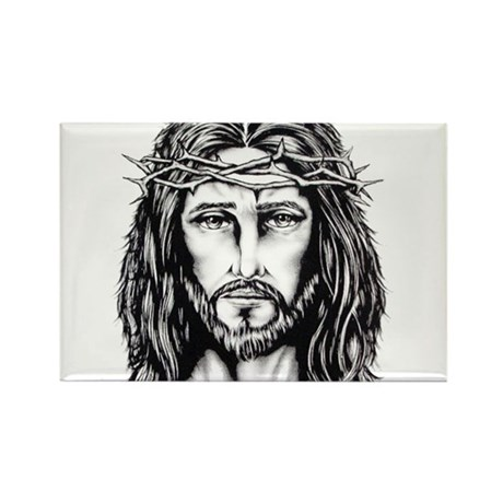 Jesus Crown of Thorns Rectangle Magnet (100 pack)
