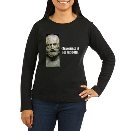 """Euripides """"Cleverness"""" Women's Long Sleeve Dark T-"""