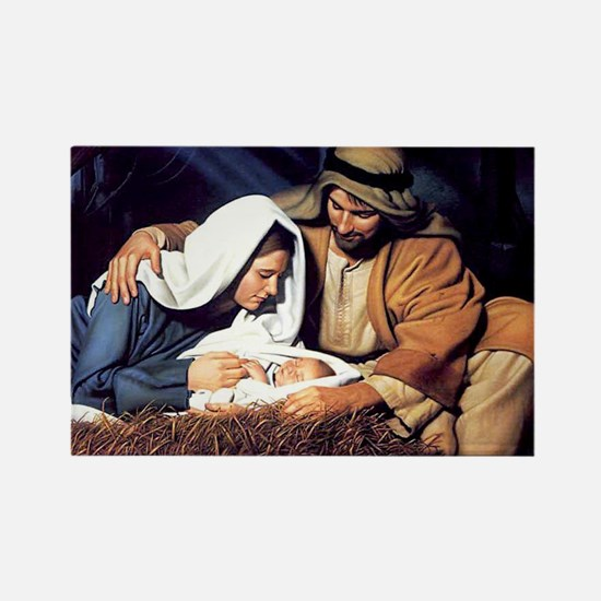 Christmas Jesus Birth Stable Rectangle Magnet