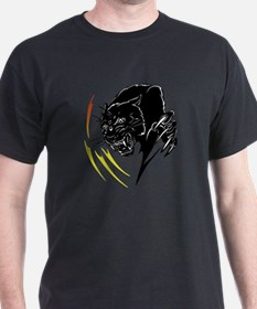 Black Panther with Flames T-Shirt