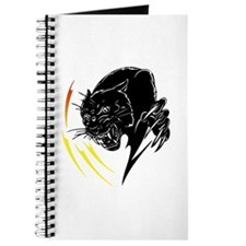 Black Panther with Flames Journal