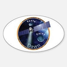 Dawn Mission Patch Oval Decal