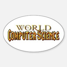 World of Computer Science Oval Decal