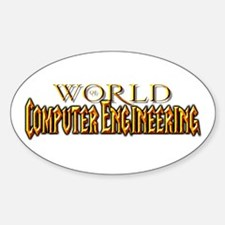 World of Computer Engineering Oval Decal