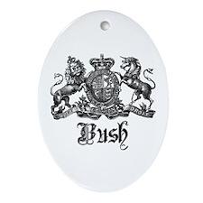 Bush Vintage Last Name Crest Oval Ornament