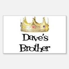 Dave's Brother Rectangle Decal