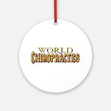 World of Chiropractics Ornament (Round)