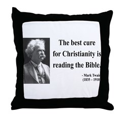 Mark Twain 20 Throw Pillow