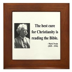Mark Twain 20 Framed Tile