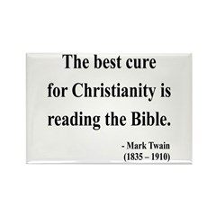 Mark Twain Text 20 Rectangle Magnet (10 pack)