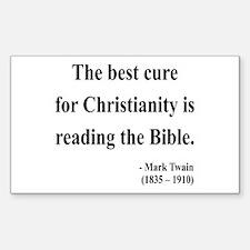 Mark Twain Text 20 Rectangle Decal