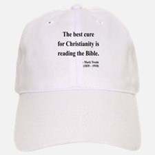 Mark Twain Text 20 Baseball Baseball Cap