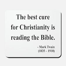 Mark Twain Text 20 Mousepad