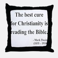 Mark Twain Text 20 Throw Pillow