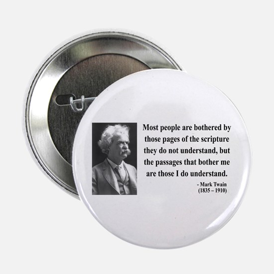 "Mark Twain 21 2.25"" Button"