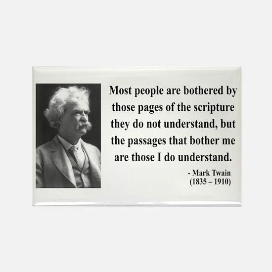 Mark Twain 21 Rectangle Magnet (10 pack)