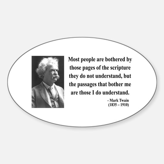 Mark Twain 21 Oval Decal
