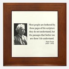 Mark Twain 21 Framed Tile