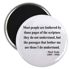 Mark Twain 21 Magnet