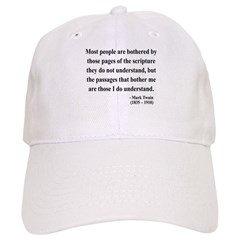Mark Twain 21 Baseball Cap