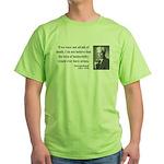 Bertrand Russell 5 Green T-Shirt