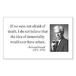 Bertrand Russell 5 Rectangle Sticker